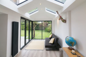 modern house extension in whitley bay